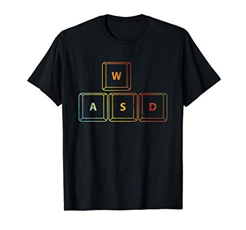 Gamer WASD RGB Gaming Konsole PC Zocken Videospiel Geschenk T-Shirt