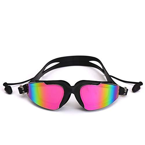 No-logo Gafas de natación, Ajustable Gafas de natación, protección UV Anti-Niebla de natación Gafas for la Unisex Hombres Mujeres Jóvenes Niños Niño