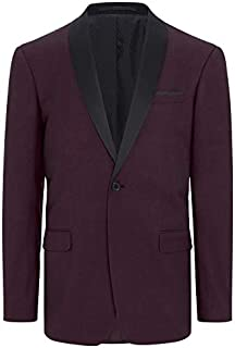Tarocash Men's Roxbury Shawl Tuxedo Jacket Polyester Blend Stretch Sizes Small - 5XL for Going Out Smart Occasionwear