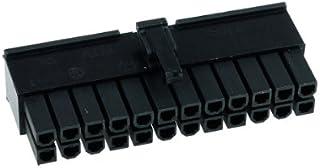 Phobya 82342 ATX 24-Pin Negro - Conector (ATX 24-Pin, Negro, Metal, De plástico, 1 Pieza(s))