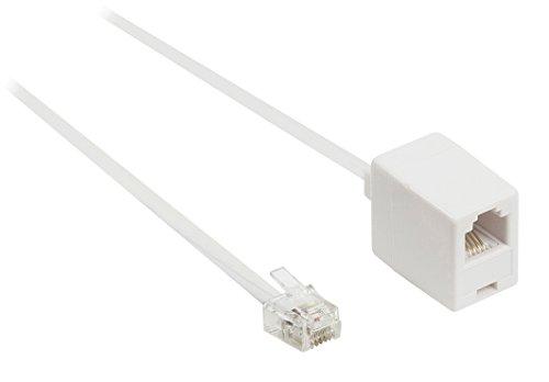 Valueline Telefonverlängerungskabel (RJ11-Stecker auf RJ11-Buchse, 5 m) weiß