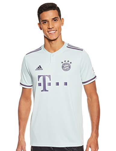 adidas Herren FCB A JSY T-Shirt, ash Green s18/Trace Purple s18/White, M