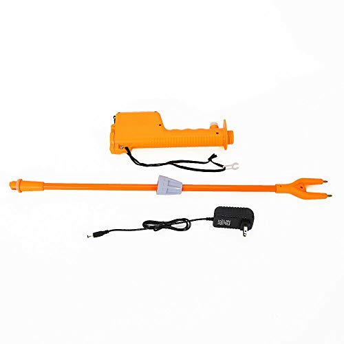 82cm Cattle Pig Prod Rechargeable Electric Shock Voltage 10000V Safety Switch Electric Livestock Prod Hot Shock Non Slip Handle Pig Stick Rechargeable Electric