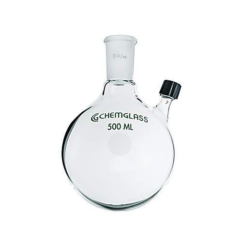 Ranking TOP17 Chemglass CG-1514-22 Round Bottom Popular overseas Flask Heavy Wall 100ml Capa