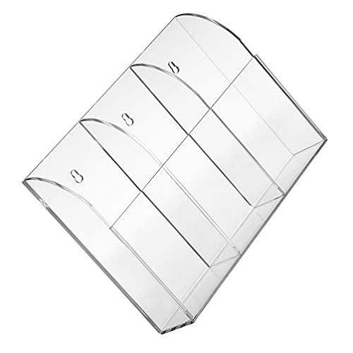 Cabilock Soporte de Control Remoto Acrílico Soporte de Pared Caja de Almacenamiento de Medios Rotulador Organizador de Pluma Escritorio Mesa de Noche Papelería para La Oficina en Casa