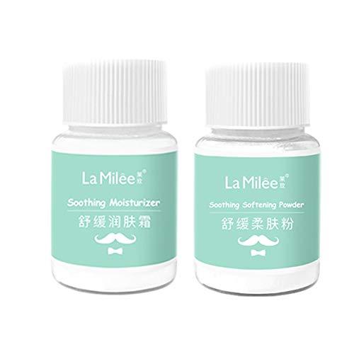 Crema depilatoria Crema depilatoria sin dolor en barba labial para mujeres Crema depilatoria, crema depilatoria + crema nutritiva, rápida y efectiva