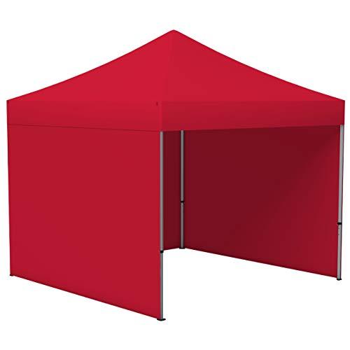 Vispronet Profi Faltpavillon/Faltzelt Basic 3 x 3 m, rot (3 Zeltwände) - weitere Farben und Größen lieferbar