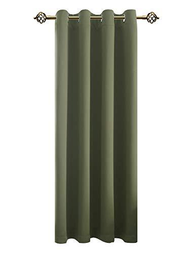 FLOWEROOM Verdunkelungsvorhang Blickdichte Gardinen - Lichtundurchlässige Vorhang mit Ösen für Schlafzimmer Geräuschreduzierung Olivgrün 245x140cm(HxB), 1 Stück