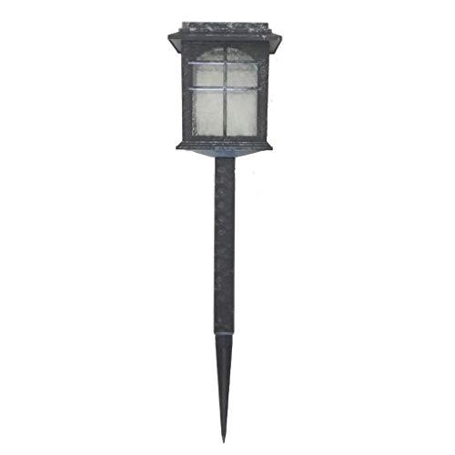 Kamer-plantenlamp/woonkamerlamp/werklamp van kunststof + glas, waterdicht, lage led, zonnelaadlamp buitenshuis, decoratie van de lamp, zwart