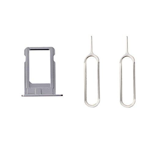 Sim Kartenhalter + 2 Pins Eject für iPhone 5 Silber