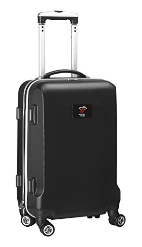 Denco NBA Miami Heat Carry-On Hardcase Luggage Spinner, Black