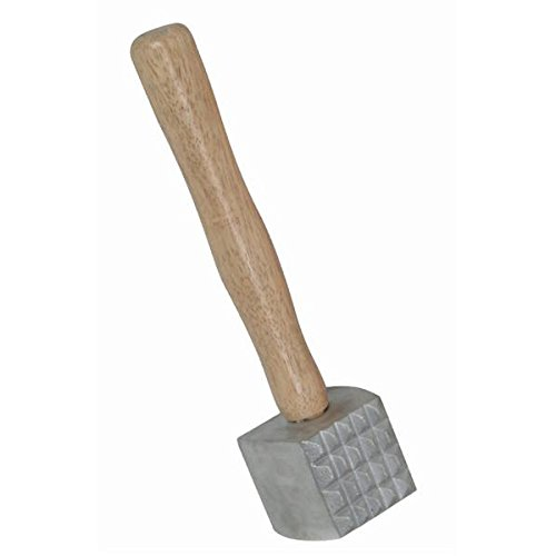 NEW, Extra Large Heavy-Duty Meat Tenderizer Mallet, Meat Tenderizer Hammer, Double-sided, Commercial-Grade, Wood Handle by Onesource