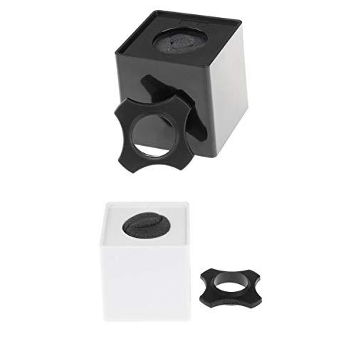 2 Banderas de Micrófono 3mm Espesor de Material Cubo para Principiantes Producción Instrumentos Musicales