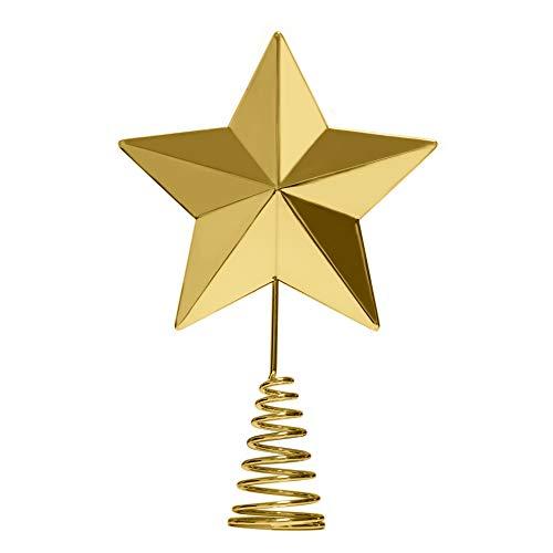 KPCB Weihnachtsbaum Stern,Christbaumspitze Stern Tannenbaum Spitze für Feiertags-Dekorationen