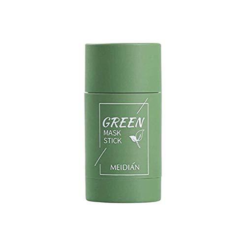 Groene thee Zuiverende klei Stick-masker Oliecontrole Anti-acne Aubergine Solide reinigingsmasker Groene thee-reiniging Solide masker Gezichtsbedekking Diepe reiniging