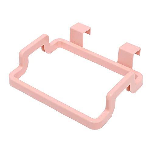 Keukenkast Opknoping Rubbish Bag Houder Vuilnis Opslag Rack Kast Hanger Deur Opslag Vuilnisbakken Opslag Vuilnisbakken Boxen roze