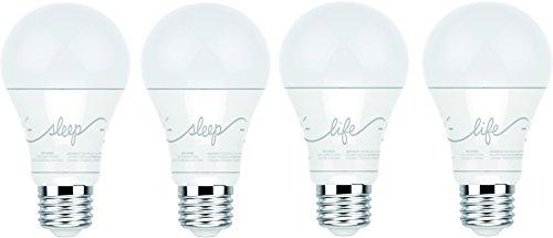 C by GE A19 C-Life y C-Sleep Smart LED bombillas Combo por GE Lighting, 4 unidades, funciona con Alexa