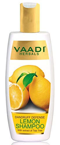 Vaadi Herbals Dandruff Defense Lemon Shampoo with Extract of Tea Tree, 350g