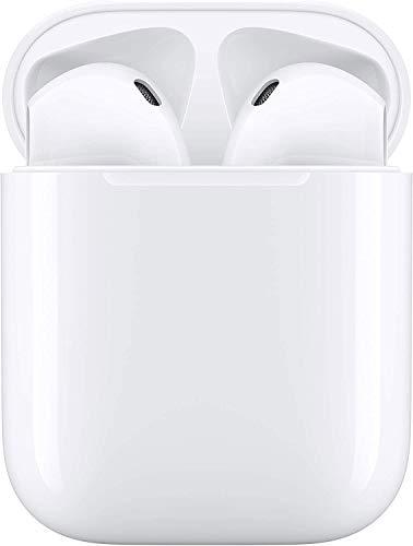 Auriculares inalámbricos Bluetooth, Auriculares inalámbricos 3D estéreo HD, emparejamiento automático para Llamadas binaurales, con Estuche de Carga portátil para Samsung/iPhone/AirPods