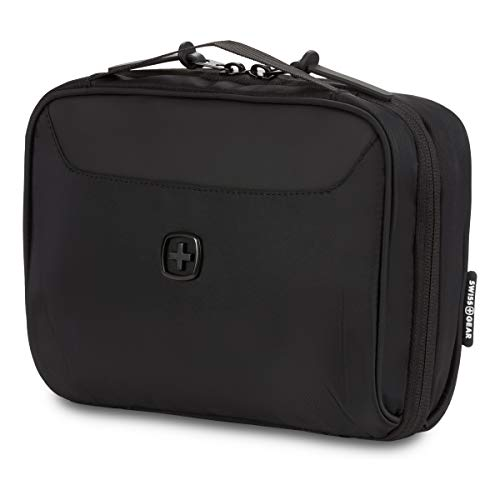 SWISSGEAR Toiletry Bag and Cord Organizer | Travel Tech Wire Case | Water Resistant | Zipper Closure – Black