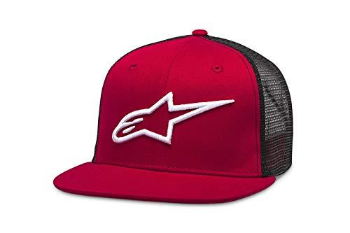 Alpinestars Corp Camionero Gorra de béisbol, Negro Rojo, OS para Hombre