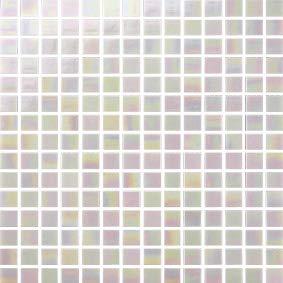 Cottoceram, Mod. Pink. Schillerndes Glasmosaik in 2 x 2 cm. Maschenweite: 30 x 30 cm. für Pool, Bäder oder Dekorationen