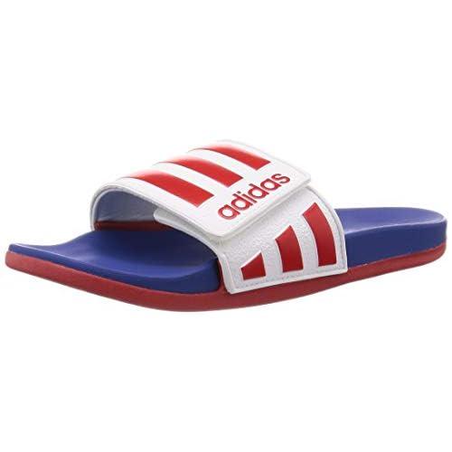 adidas Adilette Comfort Adj, Scarpa da Calcio Uomo, Ftwbla/Escarl/Azure A, 32 EU