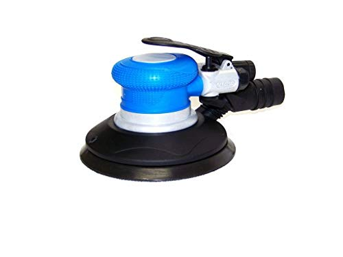 """COLIBROX>H-D 6"""" Palm Air Sander Random Orbital D A Sander 10500 RPM with Vacuum dust tool>HEAVY DUTY SUPER LIGHTWEIGHT SOFT GRIP GREATER COMFORT AND CONTROL RANDOM ORBITAL ACTION FOR SWIRL FREE FINISH"""