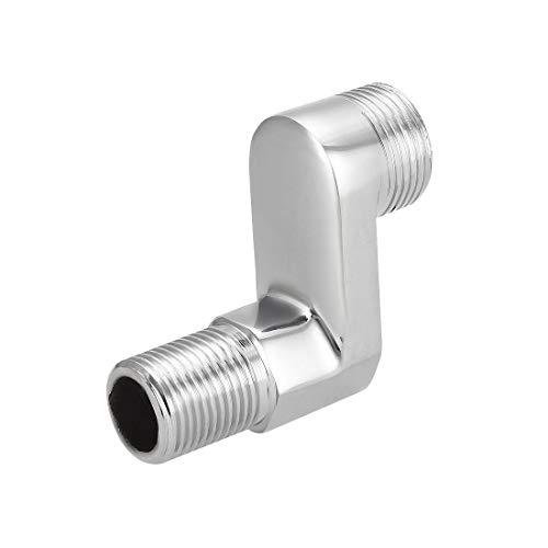 uxcell - Grifo de ducha de latón macizo con brazo oscilante ajustable G1/2-G3/4 8-22 mm