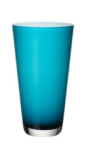 Villeroy & Boch Verso Vaso Piccolo Carribean Sea, 25 cm, Vetro, Blu/Turchese