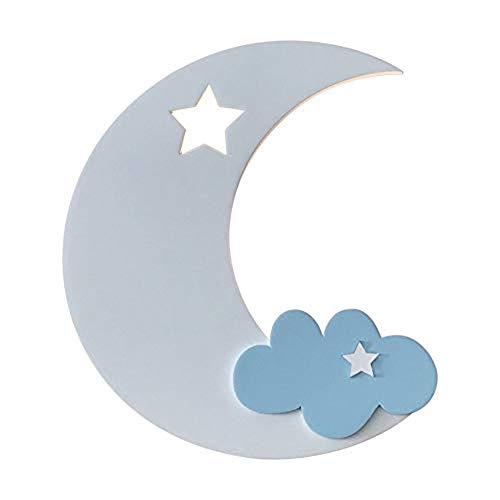 Slaapkamer voor kinderen, moderne wandlampen in maanvorm – wandlamp voor kinderen met binnenverlichting voor slaapkamer voor kinderkamer