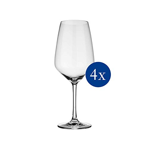 vivo by Villeroy & Boch Group - Voice Basic Rotweingläser, dezent gestaltete Gläser für Rotwein, 497 ml, Kristallglas, klar, spülmaschinenfest