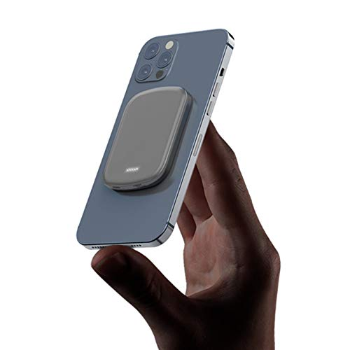 AJIC Mini Batería Externa para Móvil 5000mAh/10000mAh Power Bank Cargador magnético 15W Tesoro de Carga inalámbrica USB C 20W PD Powerbank para iPhone Samsung Huawei Xiaomi Smartphone