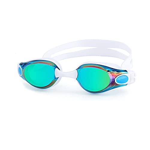 Adultos Natación Gafas Anti-Niebla Hombres Y Mujeres Profesional Silicona Piscina Arena Impermeable Piscina Nadar Gafas De Buceo (Color : Sky Blue)