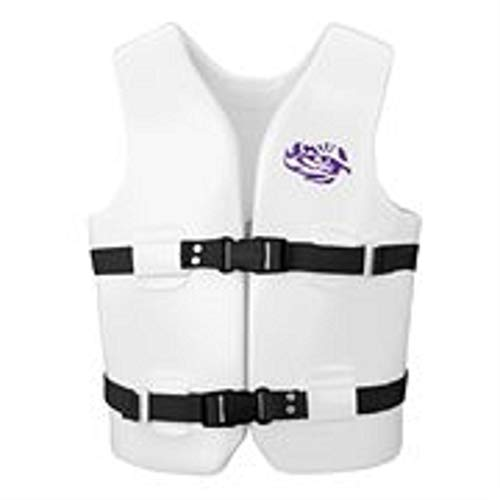 Buy Texas Rec 29 White NCAA Louisiana State University Youth Medium Life Vest