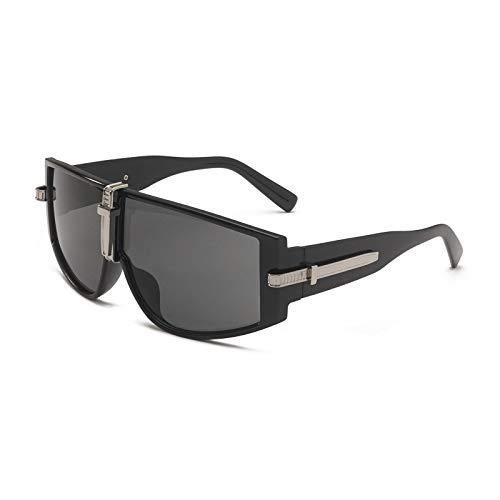 Gafas de Sol Gafas De Sol Steampunk De Lujo para Mujer, Gafas De Sol para Hombre, Monturas Grandes De Moda, Lentes Transparentes, Sombras Uv400 C1