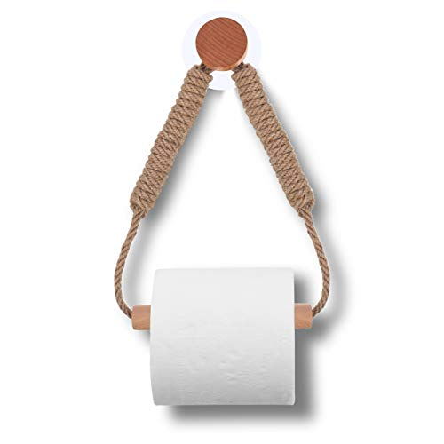 RosewineC Klopapierhalter Klopapierrollenhalter Vintage,Toilettenpapierhalter Ohne Bohren,WandmontageToilette Toilettenpapierhalter,WC Badezimmer Bad Vintage Dekoration Industrie Seil
