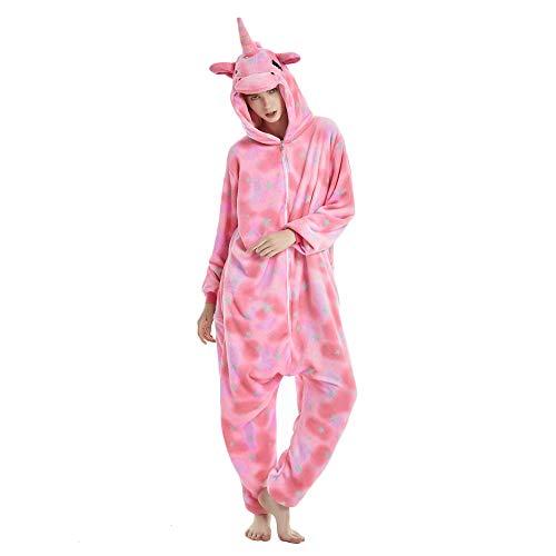 KiKa Monkey UUnicornio Pijamas para Unisex Cosplay Costume Onesie Adulto Anime Cartoon Party Halloween Pijamas (S, Rosa)