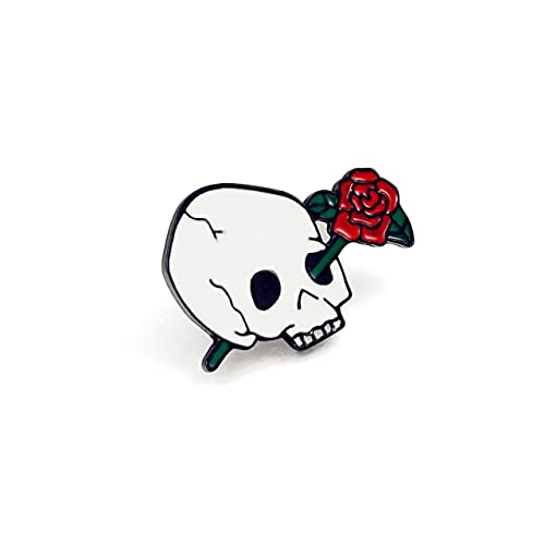 Colección De Esqueletos Broches Insignia Costillas De Gato Rosa Esqueleto Esmalte Pin Punk Gothic Camisa Vaquera Bolsa Pines De Solapa-2, China