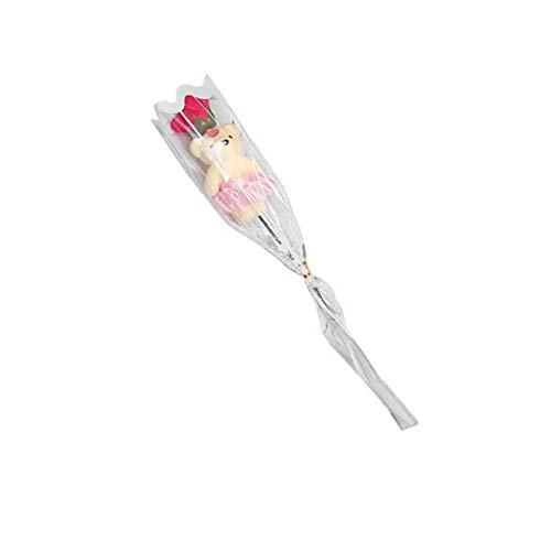 ZEFAN Netter Teddybär-Blumenstrauß, Simulation Rosenstrauß-Seifenblume