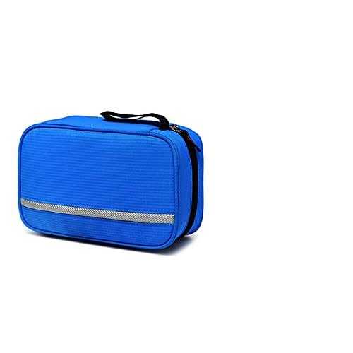 Bolsas de cosméticos para mujer, bolsa de inodoro impermeable, bolsa de viaje portátil, bolsa de almacenamiento de cosméticos para hombres y mujeres, Blue, 23*9*15cm,