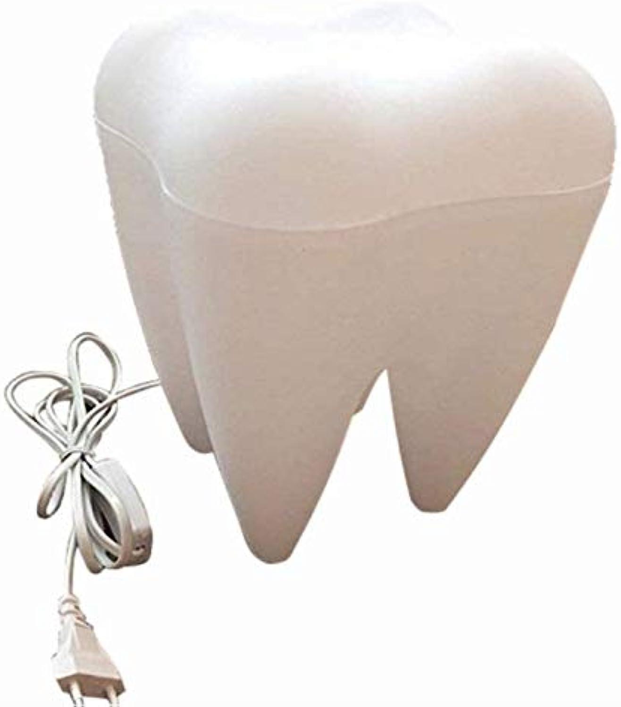 RUXMY Zahn Lampe Milch Weie Bettwsche Wohnzimmer Studie Kreative Geschenk-Schreibtisch Lampe Festliche Geschenk Nachtlicht (197  197  270 (Mm))