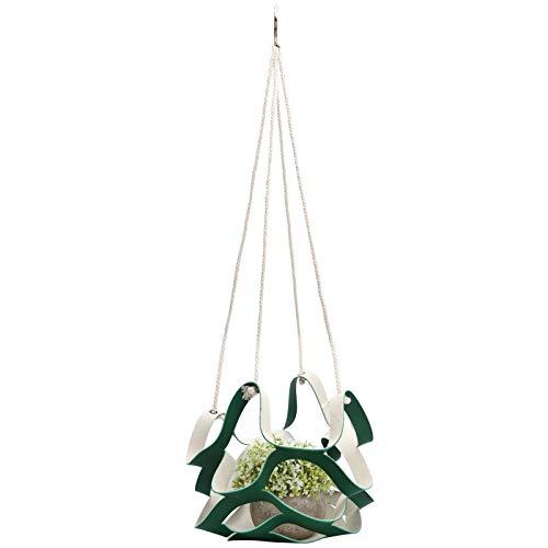 Alvinlite Plant Hangers,Wall Hanging Flower Pot Holder Basket for Home Garden Decoration(S-Green)