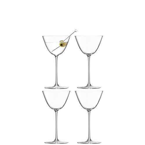 LSA BG08 Borough Martini - Bicchiere trasparente da 195 ml, 4 pezzi