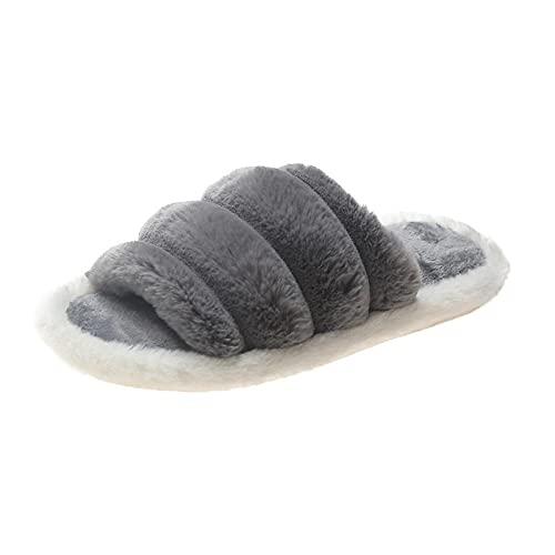 Espuma Memory Foam cómodo Slipper,Zapatillas de casa peludas para otoño/Invierno, Zapatillas de...