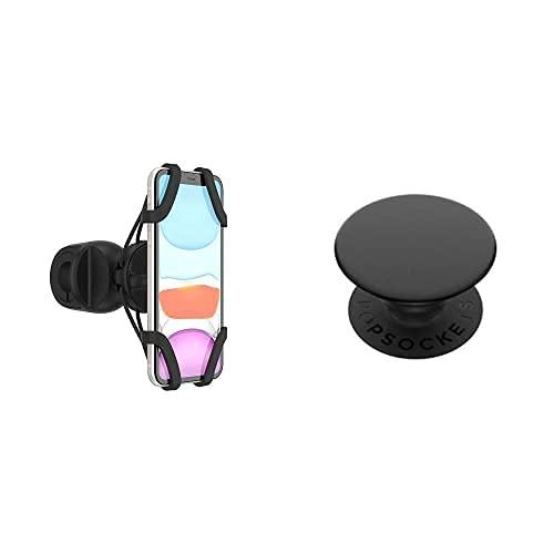 PopSockets: PopMount 2 Ride - Soporte para Scooter y Bicicleta sin Adhesivo para Smartphone - Negro (Black) + Soporte y Agarre para Teléfonos Móviles y Tabletas - Negro (Black)