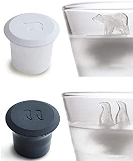 Polar Bear and Penguin Shape Ice Cube Molds Animals Novelty Design Polar Ice Molds for Drink Silicone Ice Cube Trays with ...