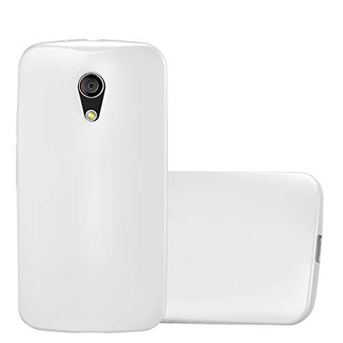Cadorabo Funda para Motorola Moto G2 en Metallic Plateado - Cubierta Proteccíon de Silicona TPU Delgada e Flexible con Antichoque - Gel Case Cover Carcasa Ligera