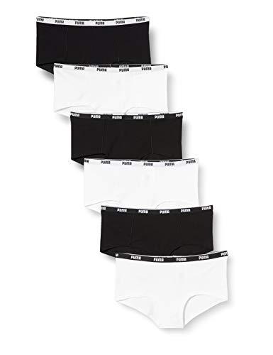PUMA Womens Mini Short Women's Multipack Underwear, Black/White, XS