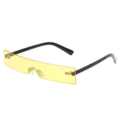 PRETYZOOM 1 Óculos de sol vintage e clássico meia armação para homens e mulheres (amarelo) lembrancinhas de festa